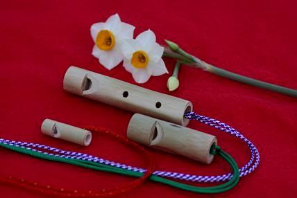 手作りの竹笛です